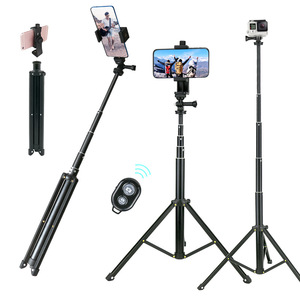 """Image 1 - Lightweight Selfie Stick Tripod Stand 51"""" Extendable Phone Mount Stand Wireless Remote For  iPhone 11 Pro XR Gopro Digtal Camera"""