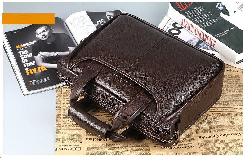 Hb56570305889402b826a9402a4d528bfc 2019 New Fashion cowhide male commercial briefcase /Real Leather vintage men's messenger bag/casual Natural Cowskin Business bag