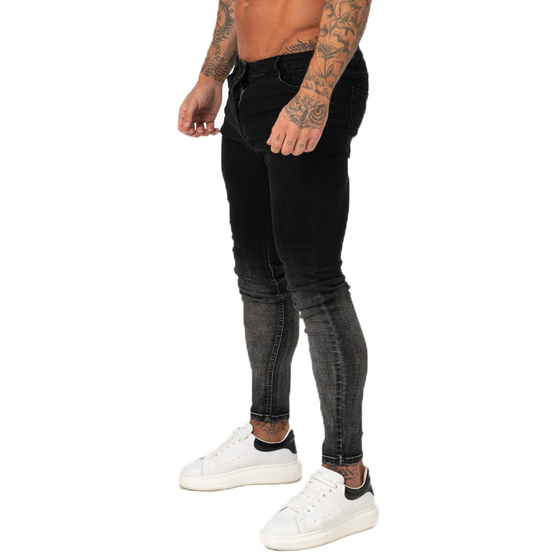 GINGTTO Men Jeans Pants  Slim Fit Super Skinny Jeans For Men Street Wear Hio Hop Ankle Tight Cut Closely To Body Big Size Stretc