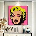 Энди Уорхол искусство Мэрилин Монро Сексуальная Женская Живопись холст постеры и фотообои для гостиной кукро без рамки