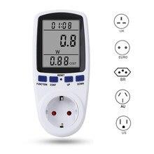 Medidor de potencia Digital Wattmeter EU/AU/BR/US/UK medidor de energía vatímetro Analizador de potencia medidor de energía electrónica medida Socke