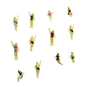 scale model swimming figure toy ABS plastic miniature seashore people for diorama architecture sea scene layout kit 100pcs 1 100 scale model color figures toys miniature architecture painted people for diorama garden street scene layout kits