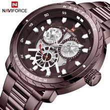 Mens Watch Luxury NAVIFORCE Quartz Sport waterproof Military Wristwatch Creative Clock Full steel Watches Relogio Masculino creative brand men watch steel luxury quartz business wristwatch waterproof clock military sport male watches relogio montre