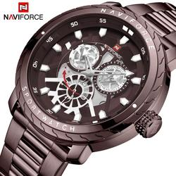 Mens zegarek luksusowy zegarek NAVIFORCE sporta zegarek kwarcowy wodoodporny wojskowy zegarek twórczy zegar zegarki ze stali Relogio Masculino Zegarki kwarcowe Zegarki -