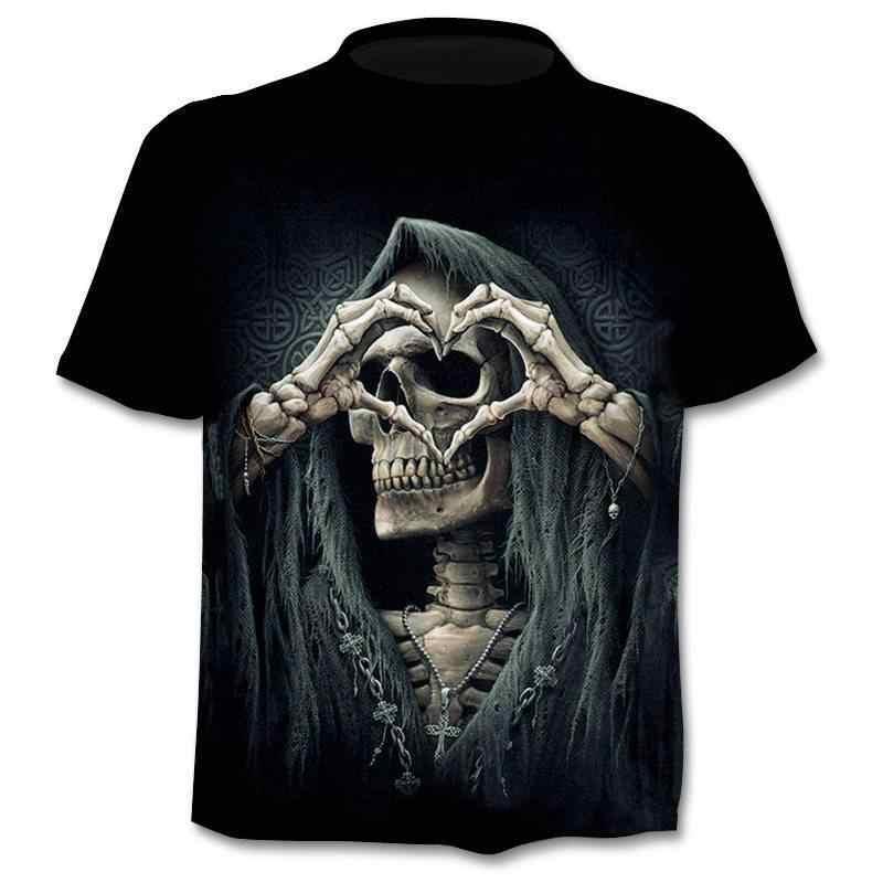 2020ニュードロップ船3Dプリントtシャツ男性の女性のtシャツパンクスタイルトップtシャツスカルtシャツゴシックtシャツアジアンサイズ6XLジム