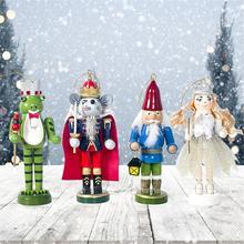 4pc drewniane malowane dziadek do orzechów żołnierz świąteczne ozdoby dla lalek dzieci noworoczny prezent zabawki dziadek do orzechów świąteczne dekoracje tanie tanio Ludzi Europa Drewna