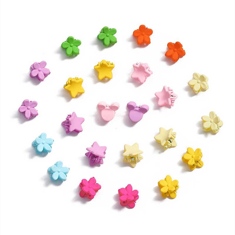 10 /20 Pcs Nieuwe Mode Baby Meisjes Kleine Haar Klauw Leuke Candy Kleur Bloesems Jaw Clip Kinderen Haarspeld haar Accessoires