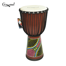 Hand-Drum Congo Percussion Djembe Musical-Instrument Wooden Mahogany-Material 8/10/12inch