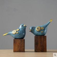 Красивая полимерная статуя птицы украшения для дома креативные