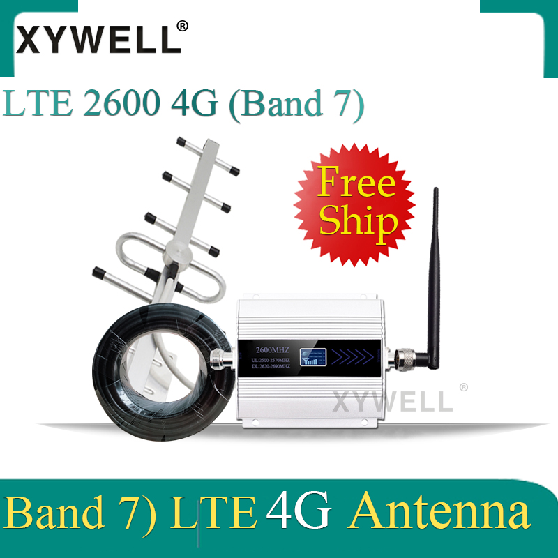 70dB Gain 4g Signal Booster FDD LTE 2600mhz Band7 GSM Signal Booster 4G LTE 2600 Mobile Network Booster Cellular Signal Repeater