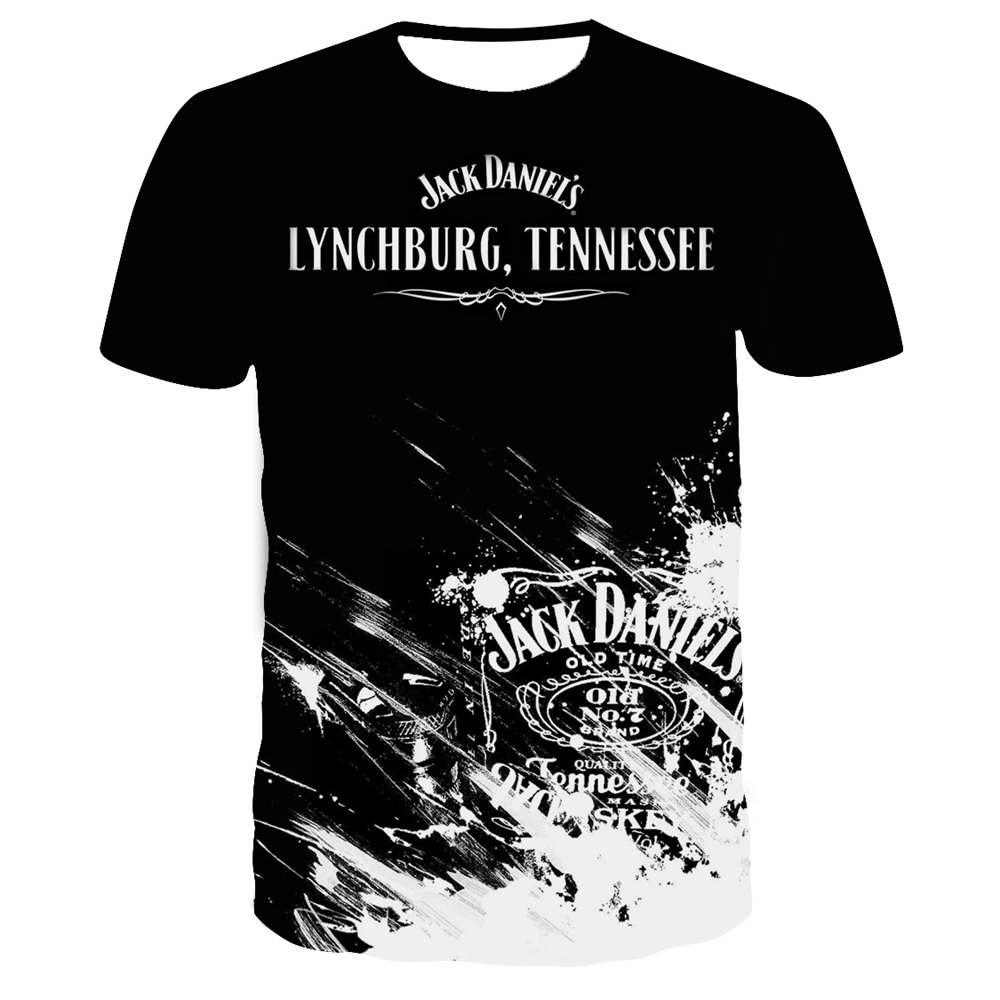 Jack Daniels 3D Printed T Shirt Summer Men Women Harajuku T-shirt Fortniter Oversized Tshirt Tee Short Sleeve