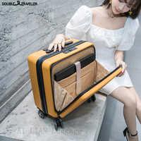 Maleta de viaje de negocios de 18 pulgadas con ruedas giratorias para equipaje rodante con bolsa para portátil caja de Apertura frontal