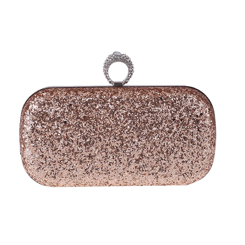 New Ladies Sparkling Glitter Prom Bridal Small Clutch Bag Handbag
