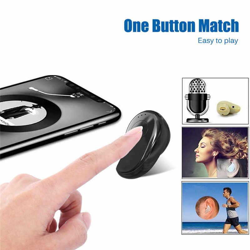 ミニワイヤレス Bluetooth イヤホンで耳スポーツマイクハンズフリーヘッドセットとすべての電話サムスン華為 Xiaomi アンドロイド