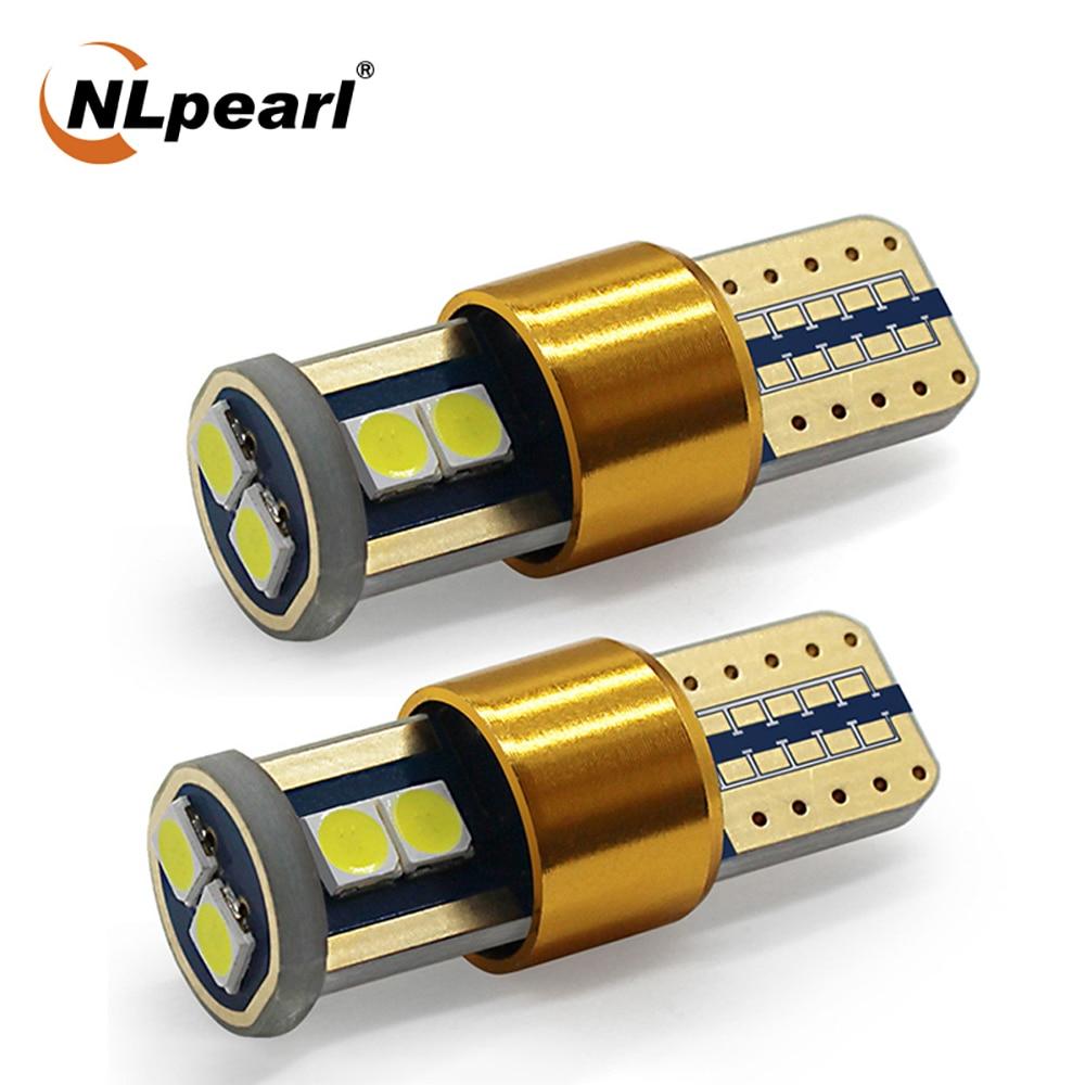 NLpearl 2x автомобиль сигнальная лампа T10 194 168 светодиодных ламп супер яркий 3030SMD W5W Led автомобиля габаритный фонарь заднего хода интерьер светил...