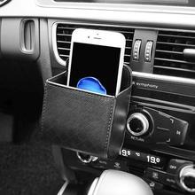 PU кожаный автомобильный открытый мусорный ящик автомобиль сумка-держатель для телефона для автомобильных принадлежностей автомобильный Стайлинг сумка органайзер коробка