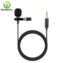 Basspal 1.5 M Mini Portable Mikrofon 3.5 Mm Jack Lavalier Dasi Klip Mikrofon Mini Audio MIC untuk Komputer Ponsel Laptop(China)