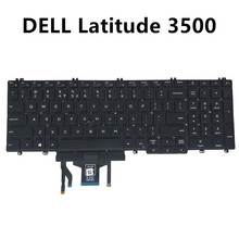 M25NK US UI Keyboard for Dell Latitude 5500 15 3500 Black with Trackpoint Backlight Specs 0M25NK PK132FA1B01 CN-0M25NK on sale