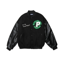 Hoodies Baseball uniform female trend autumn and winter PU leather stitching loose bomber jacket fried street port style top