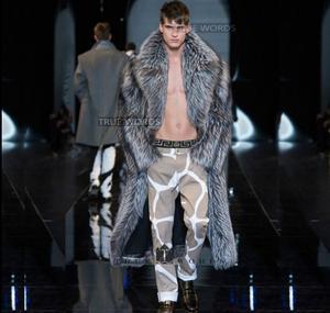 Осенняя кожаная куртка из искусственного меха норки, Мужская зимняя утолщенная теплая длинная меховая кожаная куртка, мужские свободные ку...