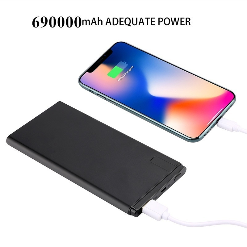 Ultra thin LCD polymer mobile power 10000 mAh portable charging treasure mobile phone shell universal Mobile phone accessories in Power Bank from Cellphones Telecommunications