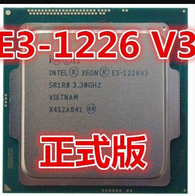 Процессор Intel Xeon, четырехъядерный процессор с частотой 3,3, 1226, V3, E3, 1226, V3, 4 ядра, 4 потока, 84 Вт, LGA 1150
