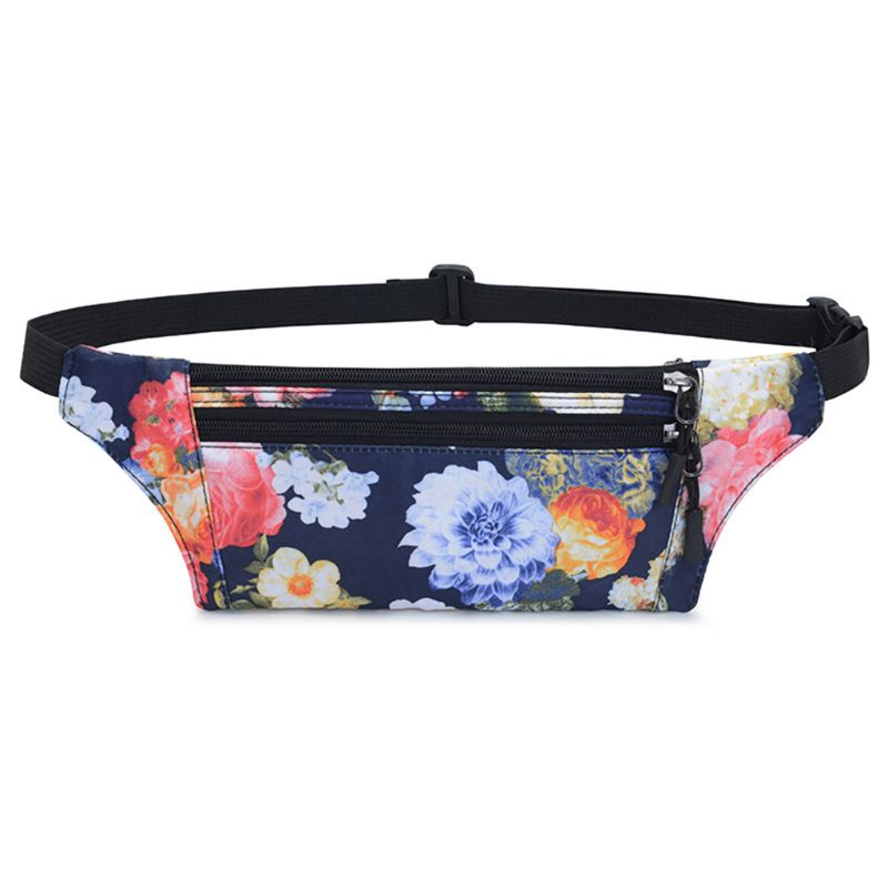Floral WoMan Waist Fanny Pack Belt Shoulder Bags Travel Hip Bum Bag Purse Chest Phone Pouch
