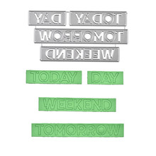 Naifumodo Today/tomorrow Word Dies Letter Metal Cutting for Card Making Scrapbooking Embossing Cuts Stencil Craft