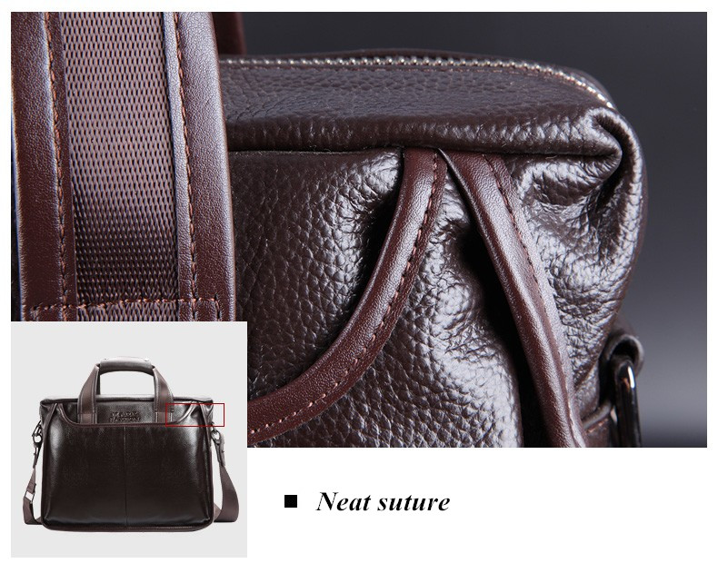 Hb567ed8489d14f25aaf270de6bf00310E 2019 New Fashion cowhide male commercial briefcase /Real Leather vintage men's messenger bag/casual Natural Cowskin Business bag