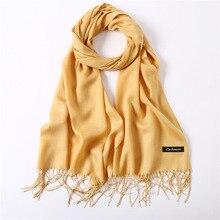 2020 Mode Vrouwen Sjaal Sjaals En Wraps Effen Moslim Hijab Sjaals Voor Dames Pashmina Tassel Head Sjaals Luxe Merk