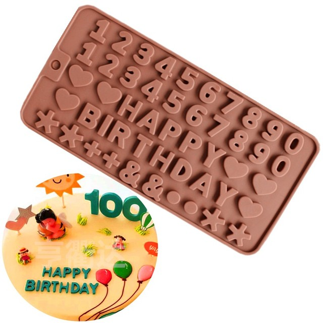 Creative silicone mold English alphabet love chocolate mold jelly fondant tool cake decoration tool bakeware cake tool practical