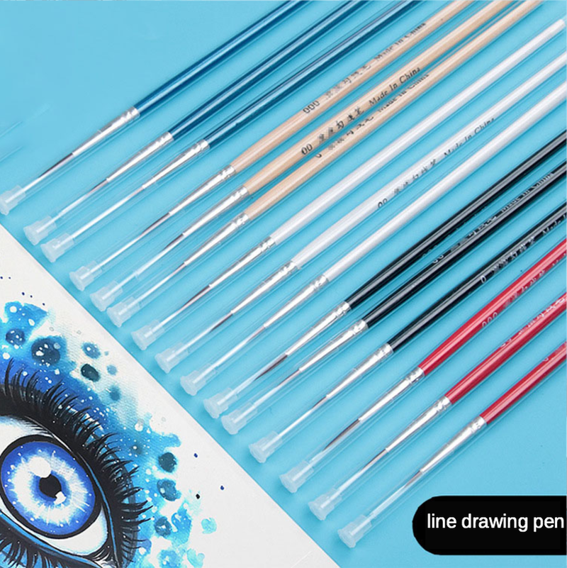 Variety Of Colors 0 00 000 Nylon Hook Line Pen Gouache Watercolor Oil Painting Hand-Painted Fine Brush Nail Art Line Drawing Pen