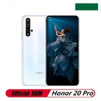 Original Honor 20 Pro 4G LTE móvil teléfono 48.0MP + 16.0MP + 8.0MP + 2.0MP + 32.0MP Kirin 980 de 6,26