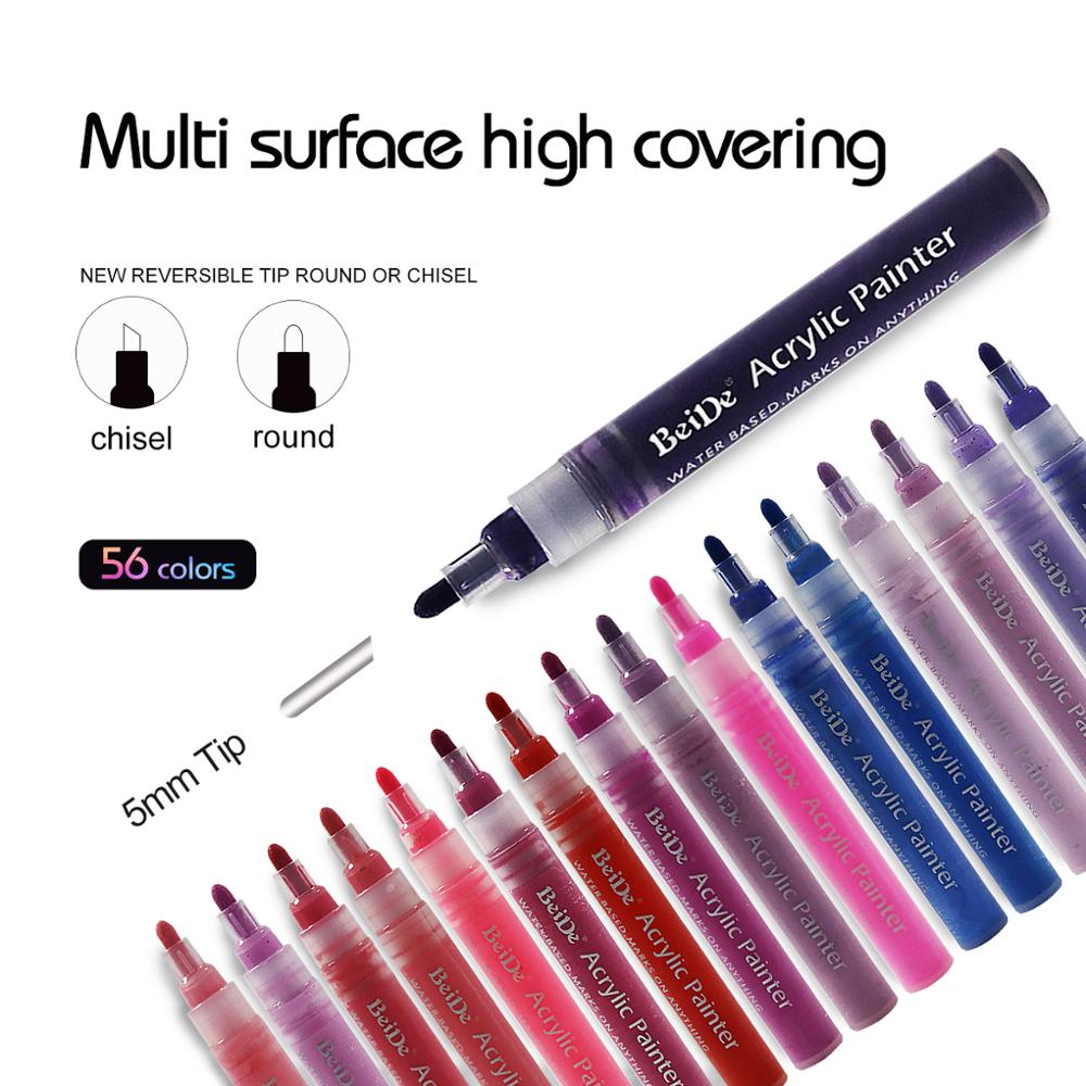 paint marker 10 colors set acrylic paint marker pens indelible ink marker pen in Marker Pens from Office School Supplies