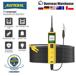 Autool bt260 carro testador de circuito elétrico power probe automotivo scanner auto display led tensão digital ferramenta diagnóstico pb100