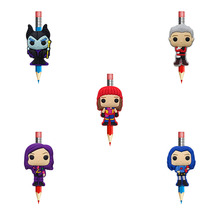 8Pcs Descendants Pencil Topper Straw Charm Cute Pen Holders Stationary School Supplies Grip Kids Gifts