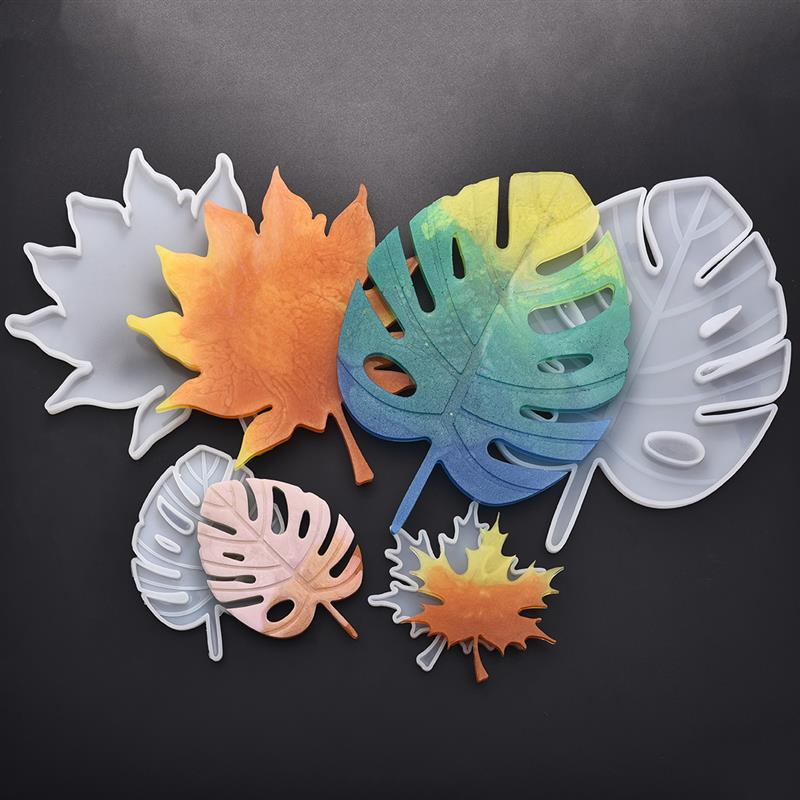 Maple Leaf Silicone Molds Palm Epoxy Resin Molds Casting Coaster DIY Coasters Mould Jewelry Making Tools