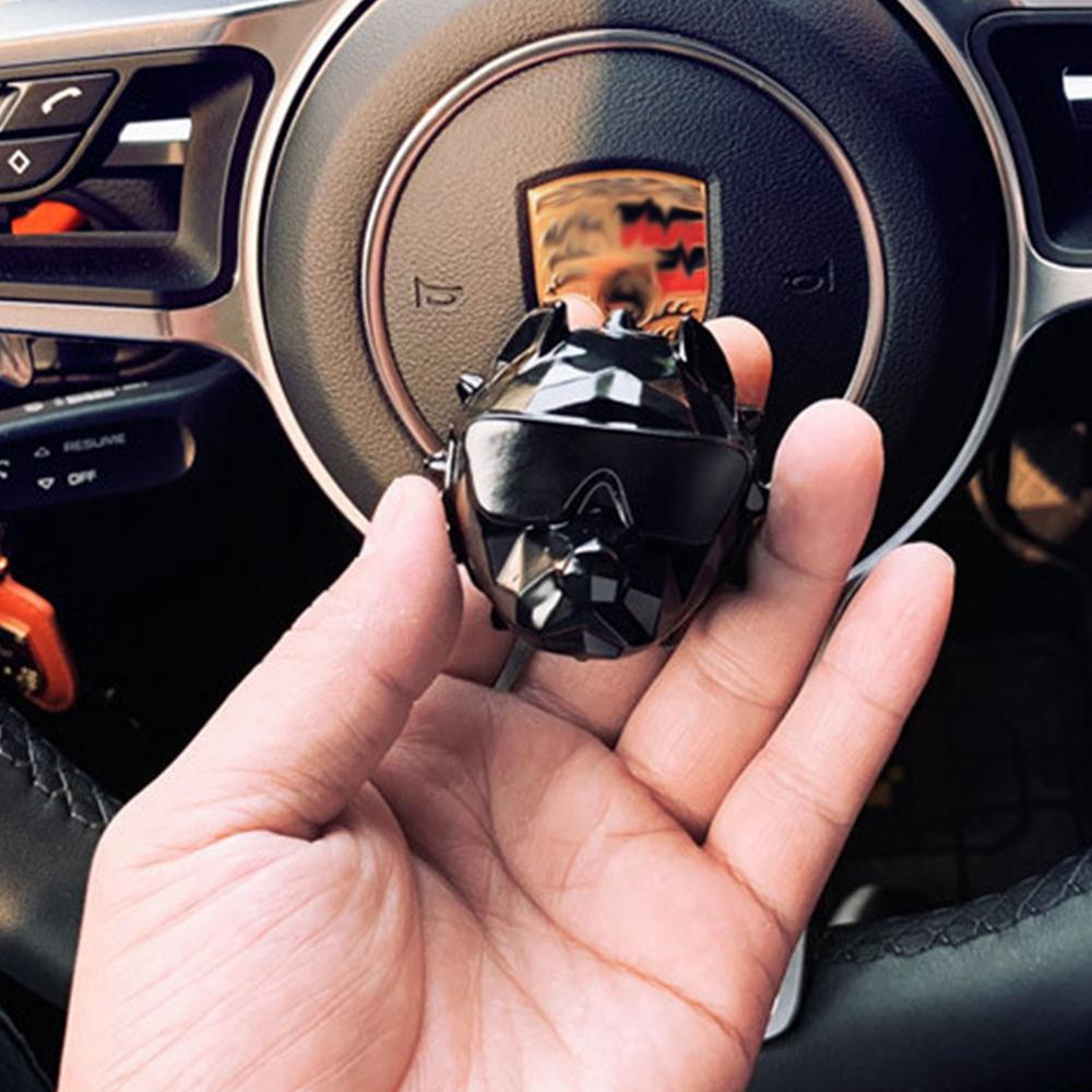 New Bulldog Car Air Freshener Perfume Clip Fragrance Diffuser Auto Vents Scent Parfum Bulldog Diffuser Car Decor#