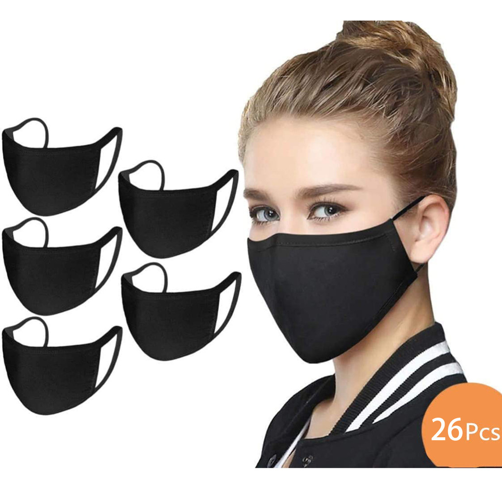 26 PCS Mouth Face Mask Unisex Dust-proof Cotton Mascarillas Reusable Anti Fog Dust Haze Mouth Face Mask Respirator Washable