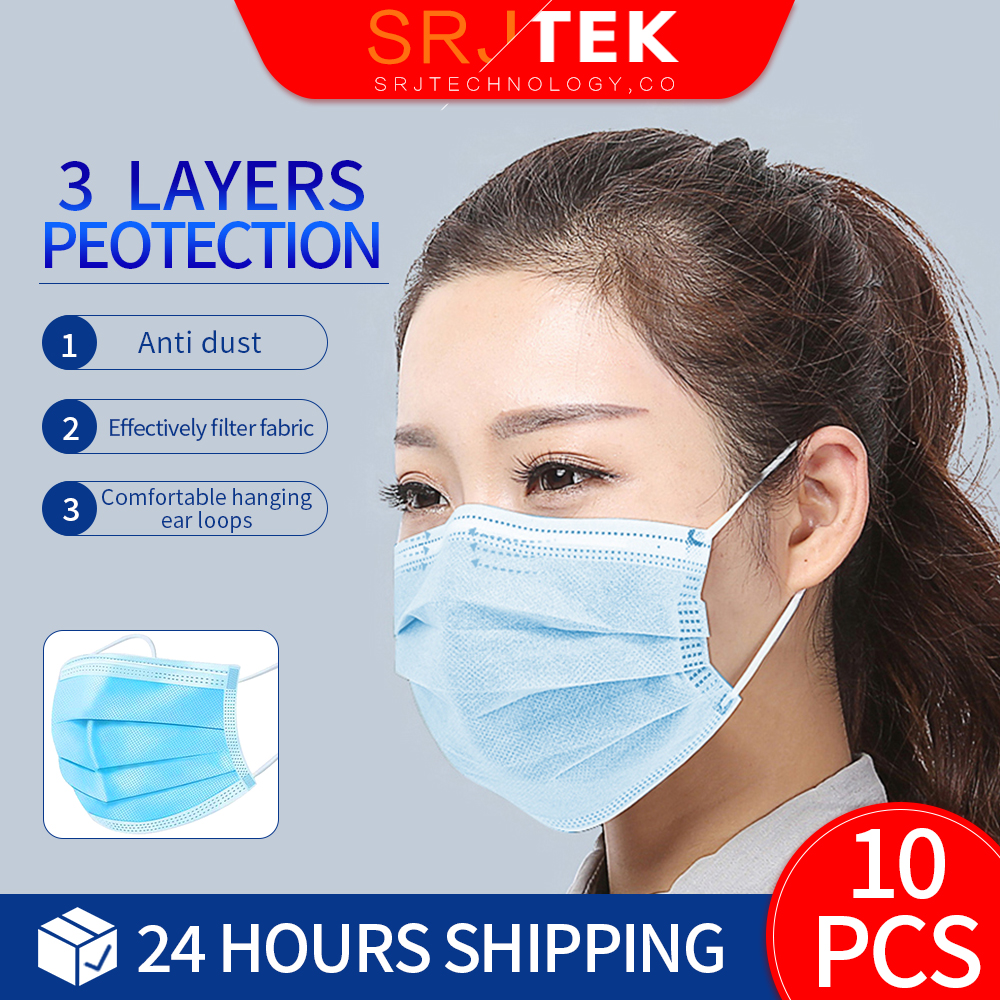 Face Mouth Anti Dyst Mask Disposable Protect 3 Layers Filter Dustproof Earloop Non Woven Adult Protective Mouth Masks