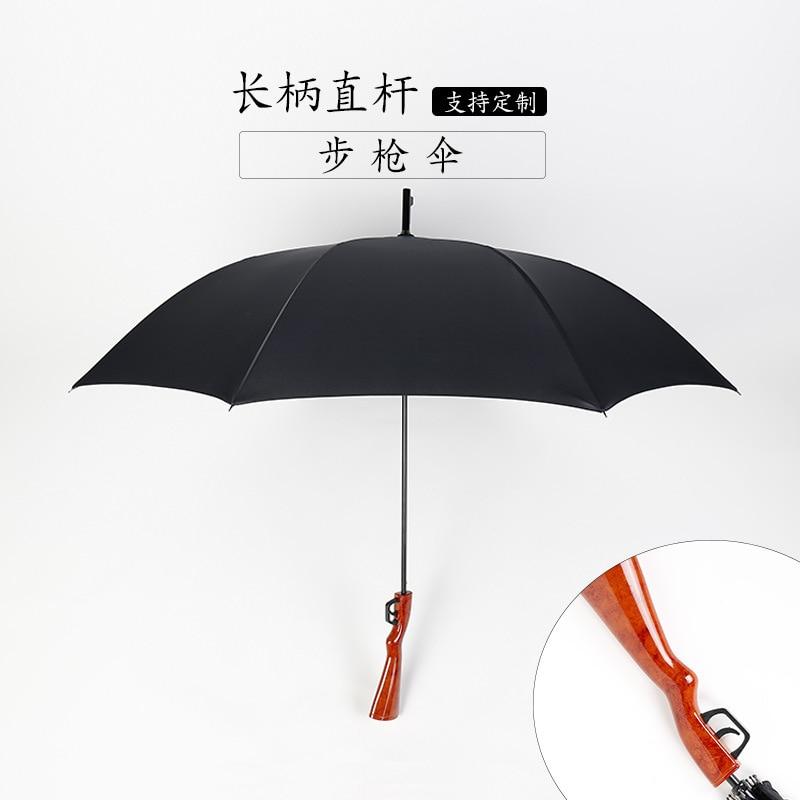 Custom New Style Creative Ultra Large Wind Resistant Rifle Umbrella Wholesale Business Straight Pole Rain Or Shine College Style