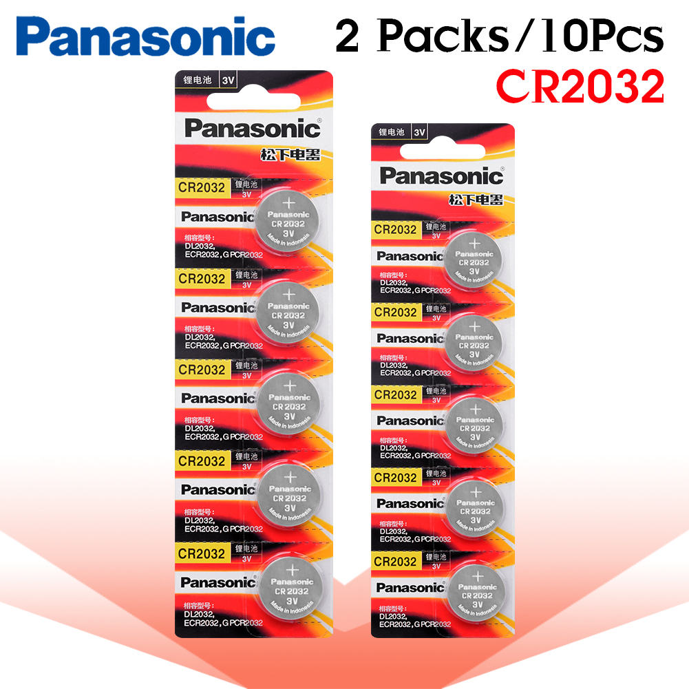 PANASONIC 10pcs brand new <font><b>battery</b></font> for cr2032 3v button cell coin <font><b>batteries</b></font> for watch toy computer cr <font><b>2032</b></font> DL2032 ECR2032 image