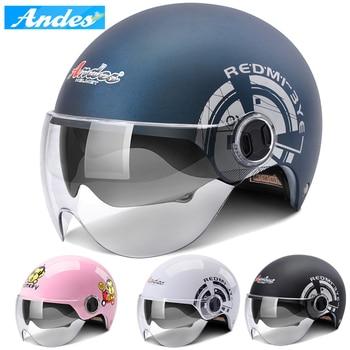 ANDES Electric Motorcycle Helmet Dual & Single Lens Visors Moto Helmet Bicycle Men Women Summer Scooter Moto Casco