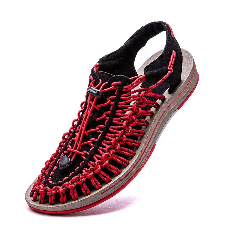 Sandalias para hombre 2020 nuevas 48 de talla grande zapatos descalzos para verano hombre Zapatos de playa sandalias romanas informales tejidas a mano sandalias de playa ¡Novedad de 2019! Sandalias con agujeros para Hombre, sandalias de cuero para Hombre, sandalias de verano para Hombre