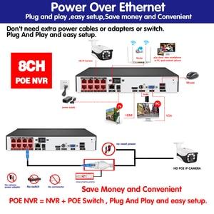 Image 5 - 8CH POE 48V kamera IP system cctv NVR zestaw nagrywania twarzy HD 5.0MP odkryty IR Night Vision zestawy nadzoru bezpieczeństwa 8*20m Netcable