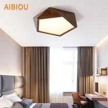 AIBIOU 2019 LED Ceiling Lights Modern Lamp For Corridor Kitchen Luminare Brown Wooden Bedroom Lighting Fixtures