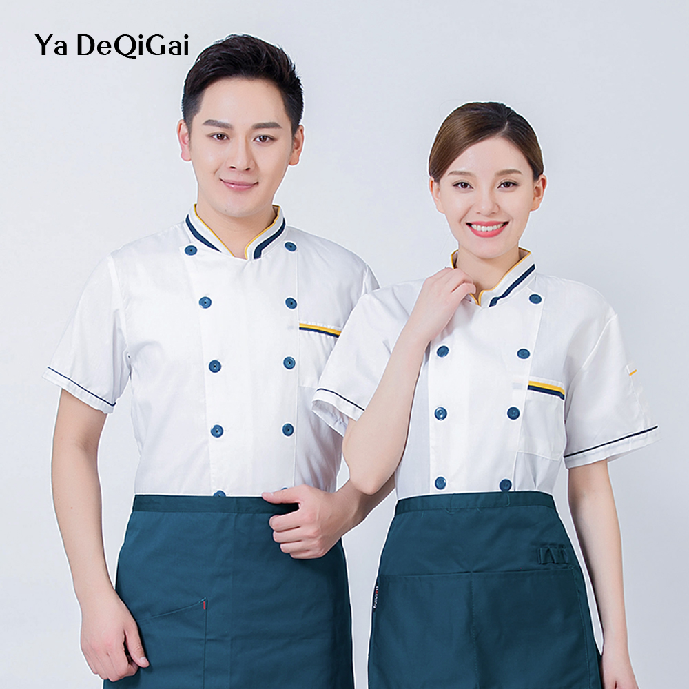 High Quality Chef Jackets Hotel Waiter Machining Canteen Tooling Chef Uniform Casual Shirt Tooling Cake Chinese Clothes For Men
