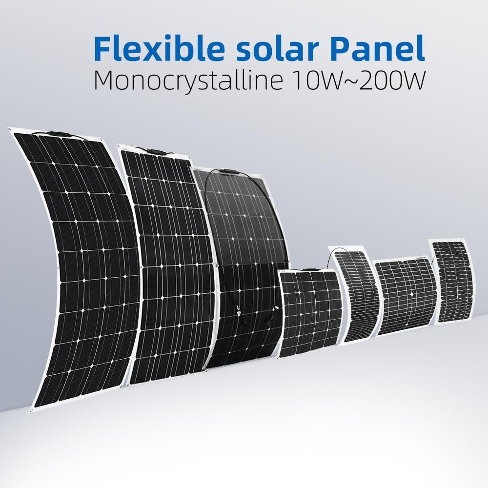 Boguang 10W-200W  Flexible Solar Panel Solar Blanket High Resistant To Salt Water Corrosion Efficiency For 12V 24v Battery