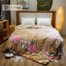 Liv-Esthete Flower Sea Luxury Natural Mulberry Silk Duvet Comforter Filled 100% Four Seasons Quilt Double Queen King
