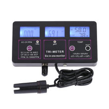 Professionele 6 In 1 Aquarium Waterkwaliteit Tester Ph Meter Monitor Multi-Parameter Voor Test Ph/Temperatuur/ec/Cf/Rh/Tds